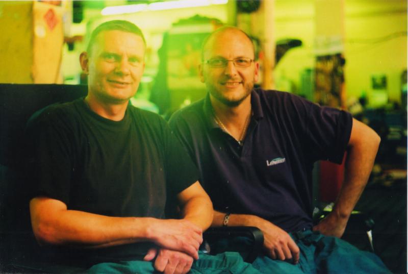 Táta s Martinem v práci