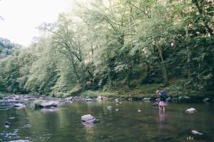 Brodění řeky Oslavy