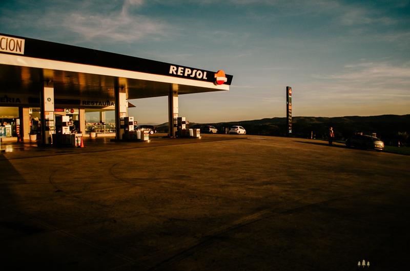 Stopování z benzínky ve Španělsku