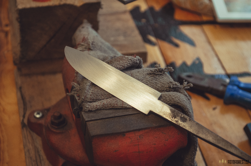 Výroba čepele nože