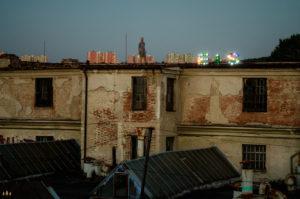 Světelná instalace na střeše Zbrojovky