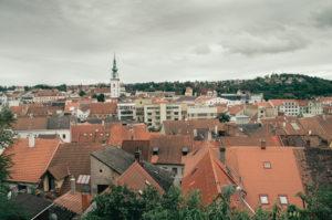Město Třebíč a městská věž
