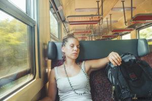 Barbora ve vlaku