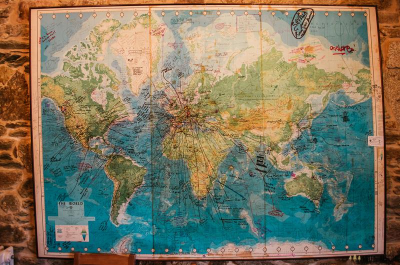 Mapa světa poutníků