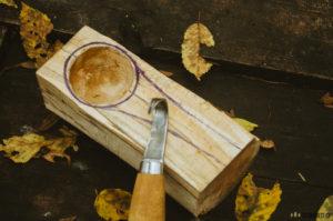 Výroba kuksy, hrnečku ze dřeva